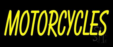 Yellow Motorcycle Logo Neon Sign