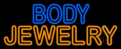 Blue And Orange Body Jewelry Neon Sign