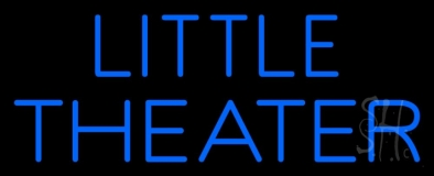 Blue Little Theater Neon Sign