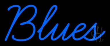 Blues Cursive 1 Neon Sign