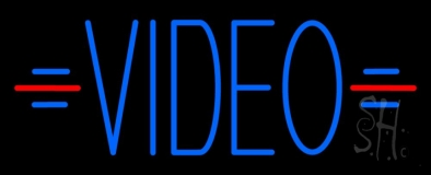 Blue Video Neon Sign