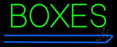 Boxes Douuble Stroke Neon Sign