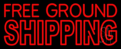 Free Ground Shipping Block Neon Sign