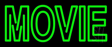 Green Double Stroke Movie Neon Sign