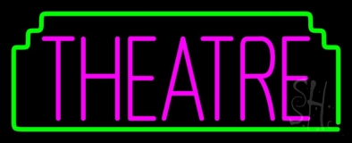 Pink Theatre Neon Sign