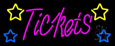 Pink Tickets Neon Sign