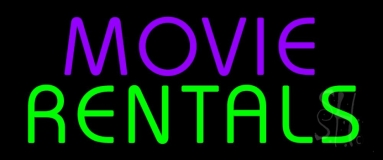 Purple Movie Green Rentals Neon Sign