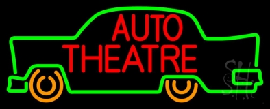 Red Auto Theatre Car Logo Neon Sign