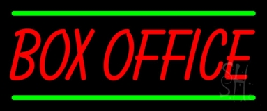 Red Box Office Green Lines Neon Sign