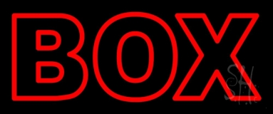 Red Double Stroke Box Neon Sign