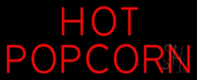 Red Hot Popcorn Neon Sign