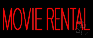 Red Movie Rentals Neon Sign