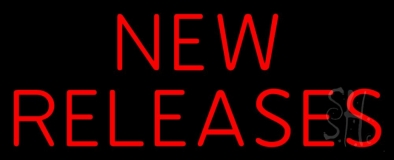 Red New Releases Neon Sign