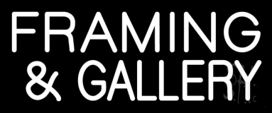 White Framing And Gallery Neon Sign