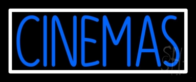 Blue Cinemas Neon Sign