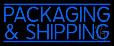 Blue Packaging And Shipping Neon Sign