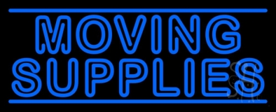 Double Stroke Moving Supplies Neon Sign