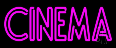 Double Stroke Pink Cinema Neon Sign