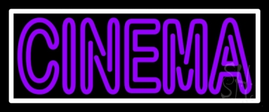 Double Stroke Purple Cinema Neon Sign