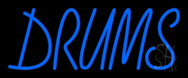Drums Block 1 Neon Sign