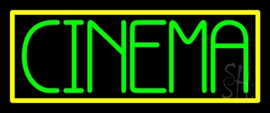 Green Cinema Block Neon Sign