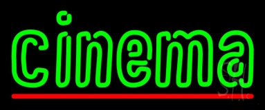 Green Double Stroke Cinema Neon Sign