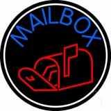Mailbox With Logo Circle Neon Sign