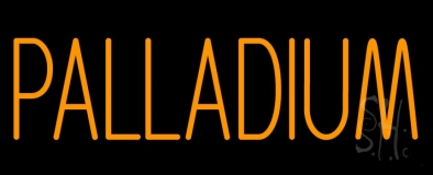 Orange Palladium Neon Sign