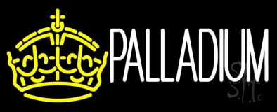Palladium Block Yellow Crown Neon Sign