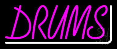 Pink Drums 2 Neon Sign