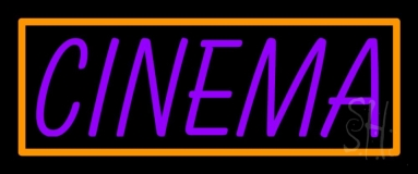 Purple Cinema Block Neon Sign