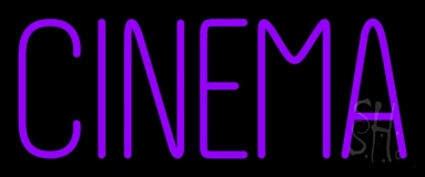 Purple Cinema Neon Sign