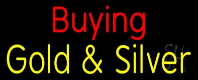Red Buying Yellow Gold And Silver Block Neon Sign