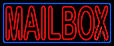 Red Double Stroke Mailbox Neon Sign