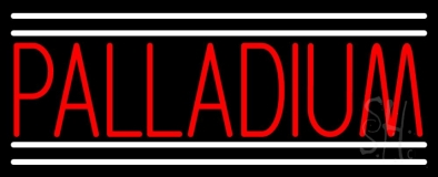 Red Palladium White Line Neon Sign