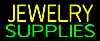 Yellow Jewelry Green Supplies Neon Sign