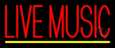 Block Live Music Red 1 Neon Sign