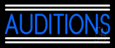 Blue Auditions Line Neon Sign