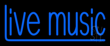 Blue Live Music 2 Neon Sign