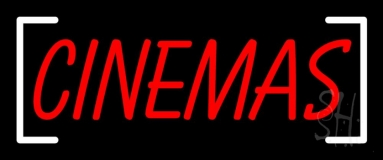 Cinemas Red Neon Sign