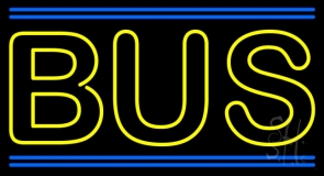 Double Stroke Yellow Bus Neon Sign