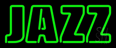 Green Jazz Block Neon Sign