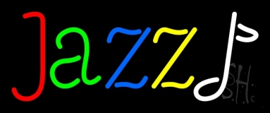 Jazz Multicolor And White Note Neon Sign