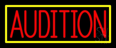 Red Audition Neon Sign