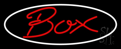 Red Box With Oval Neon Sign