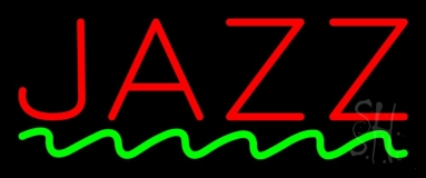 Red Colored Jazz Block Neon Sign