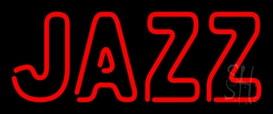 Red Jazz Block 3 Neon Sign