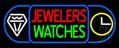 Red Jewelers Green Watches Neon Sign