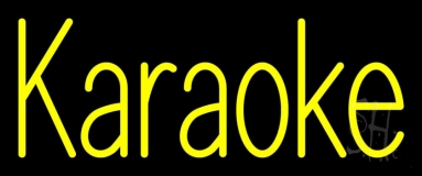 Yellow Karaoke 1 Neon Sign