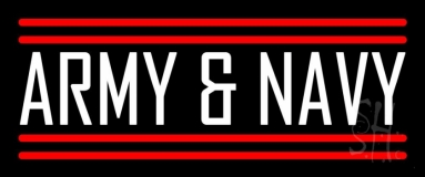 Army And Navy Neon Sign